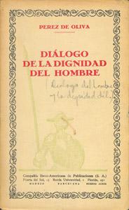 Front Cover : Diálogo de la dignidad del hombre