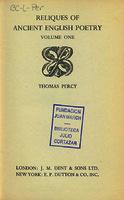 Ver ficha de la obra: Reliques of ancient English poetry