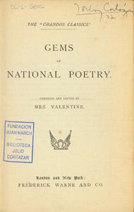 Cubierta de la obra : Gems of national poetry
