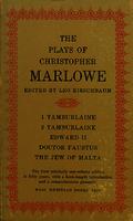 Ver ficha de la obra: plays of Christopher Marlowe