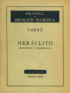 Cubierta de la obra : Heráclito