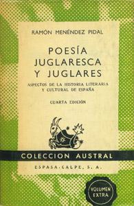 Cubierta de la obra : Poesía juglaresca y juglares