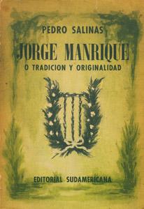 Cubierta de la obra : Jorge Manrique o Tradición y originalidad