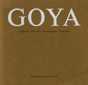 Cubierta de la obra : Goya