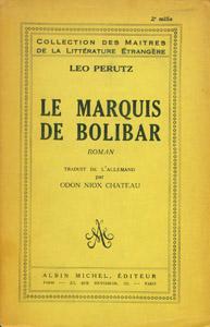 Cubierta de la obra : Le Marquis de Bolibar