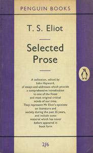 Cubierta de la obra : Selected prose