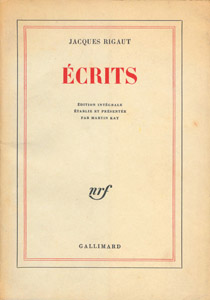 Front Cover : Ecrits