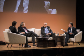 Antonio San José,  Íñigo Alfonso,  Javier Elorza y  Xavier Vidal-Folch. Brexit, 2017