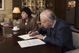 María Rosa Goñi y  Manuel Halffter Cámara Santos. Acto de la firma del documento de donación del legado del compositor Ernesto Halftter, 2018