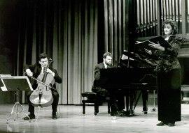 Josep Soler, Rafael Ramos, Jorge Robaina y Silvia Leivinson. Concierto Mater Dolorosa de Josep Soler - Aula de (Re)estrenos [15] , 1993