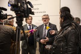 Javier Gomá Lanzón y Miguel Falomir Faus en la inauguración de la exposición