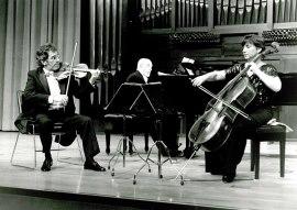 Trío Serrano-Yepes, Jesús Yepes Hernández, Pilar Serrano y Jesús Yepes Cottes. Recital de música de cámara, 1993