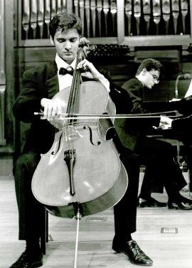 Aldo Mato y Carlos Apellániz. Concierto Escuela Superior de Música Reina Sofía , 1993