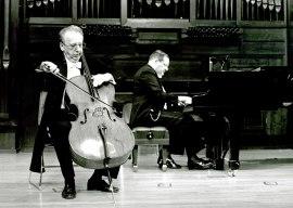 Mikhail Khomitser y Luis Rego. Concierto El violonchelo romántico , 1993