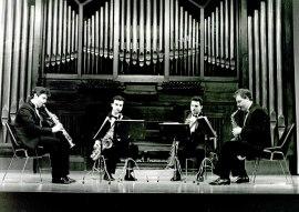 Joaquín Franco Pallás, Ángel Molina Mafe, Julio Gascón Vengut y José Grau Grau. Concierto Músicas para viento , 1994