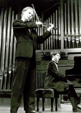 Escuela Superior de Música Reina Sofía, Berrat Korfker y Graham Jackson. Recital de violín y piano , 1994