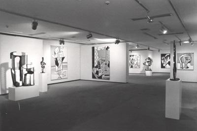 Vista parcial de la exposición Roy Lichtenstein 1970-1980