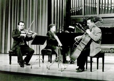 Rafael Quero, José Campos y Álvaro P. Campos. Concierto Tríos para piano, violín y violonchelo