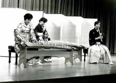 Ishigaki Seizan, Ishigaki Kiyomi y Matsumura Erina. Concierto Música tradicional japonesa
