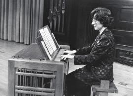 Presentación Ríos. Concierto Música para tecla, arpa y vihuela , 1995