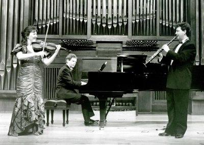 Tasmin Little, Joan Enric Llunas y Nigel Clauton. Concierto Webern-Bartók: música de cámara