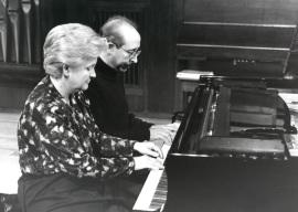 Ana Bogani y Fernando Puchol. Concierto Piano a cuatro manos (1995) , 1995