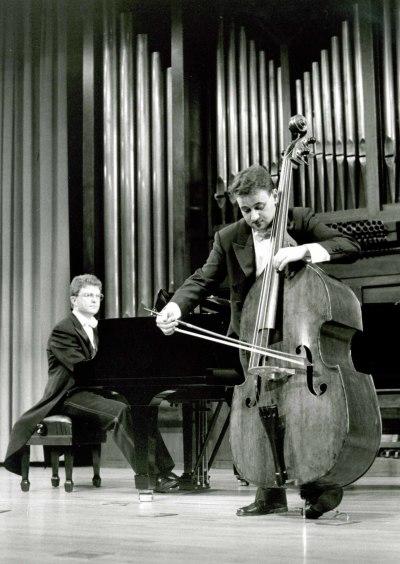 Germán Muñoz y Ángel Gago Bádenas. Recital de contrabajo y piano