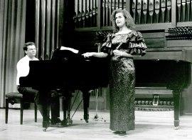 Charo Valles y Miguel Ángel Álvarez. Recital de piano y canto, 1995