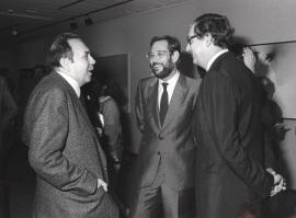 Gustavo Torner de la Fuente, Javier Solana y Juan March Delgado. Exposición Fernando Zóbel, 1984