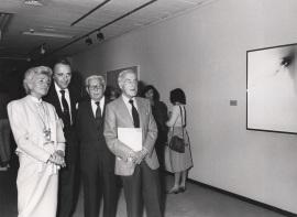 Juan Antonio Vallejo Nájera, Joaquín Calvo Sotelo y Luis Escobar. Exposición Fernando Zóbel, 1984