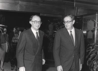 Guido Brunner y Juan March Delgado. Exposición Julius Bissier