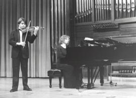 José Herrador y Irini Gaitani. Recital de violín y piano , 1996