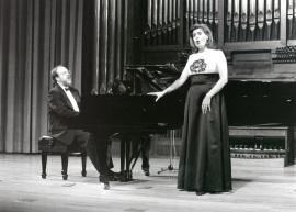 Antón Cardó y Elena Gragera. Concierto Música francesa de la época de Toulouse-Lautrec , 1996