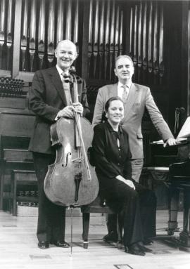 Carlos Prieto, Chiky Martín y Tomás Marco. Concierto El violonchelo iberoamericano , 1996