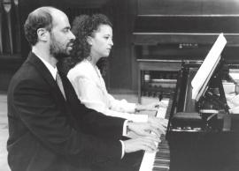 Sebastián Mariné y Elena Aguado. Recitales para Jóvenes, 1996