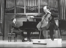 Graham Jackson y Adan Hunter. Recital de violonchelo y piano , 1997