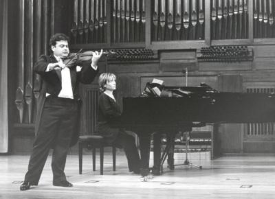 Manuel Guillén y Mª Jesús García. Concierto El violín virtuoso