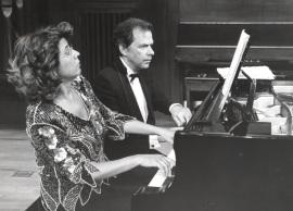 Carmen Deleito y Josep Colom. Concierto Bajo la estrella de Diaghilev , 1997