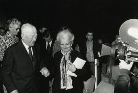 Oskar Kokoschka y Carmen Delgado de March. Exposición Oskar Kokoschka, 1975