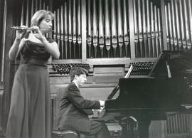Maarika Jarvi y Graham Jackson. Concierto Músicas para la flauta , 1997