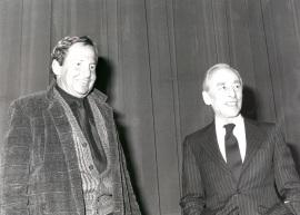 Robert Rauschenberg y Leo Castelli. Exposición Robert Rauschenberg, 1985