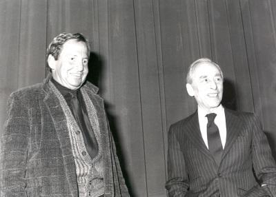 Robert Rauschenberg y Leo Castelli. Exposición Robert Rauschenberg