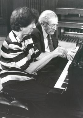 Joan Rowland y Karl Ulrich Schnabel. Concierto Piano a cuatro manos, 1997