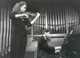 Ana Francisca Comesaña y Hubert Weber. Recital de violín y piano , 1998