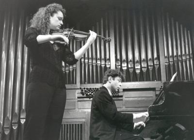 Ana Francisca Comesaña y Hubert Weber. Recital de violín y piano