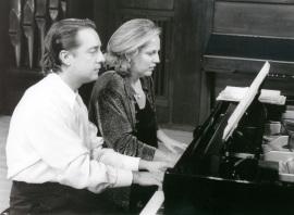Iñaki Saldaña y Chiky Martín. Concierto Remembranzas de España , 1998