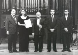 Ramón Barce, Mª José Montiel, Jesús Villa Rojo, Gerardo López Laguna, Alfredo Anaya y Eulalia Solé. Concierto Homenaje a Ramón Barce - Aula de (Re)estrenos (36) , 1998