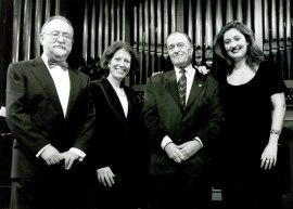 Jesús Villa Rojo, Mª José Montiel, Ramón Barce, Gerardo López Laguna, Alfredo Anaya y Eulalia Solé. Concierto Homenaje a Ramón Barce - Aula de (Re)estrenos (36) , 1998
