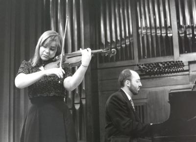 Verónica Pellegrini y Kennedy Moretti. Recital de violín y piano