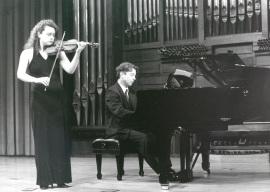 Ana Francisca Comesaña y Hubert Weber. Concierto Sonatas para violín y piano , 1999